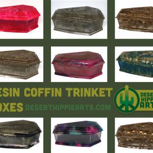 resin coffin trinket box