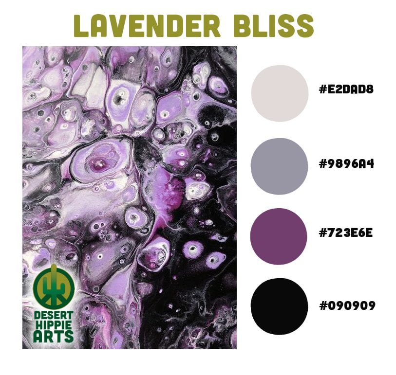 My Favorite 5 Color Combinations Lavender Bliss