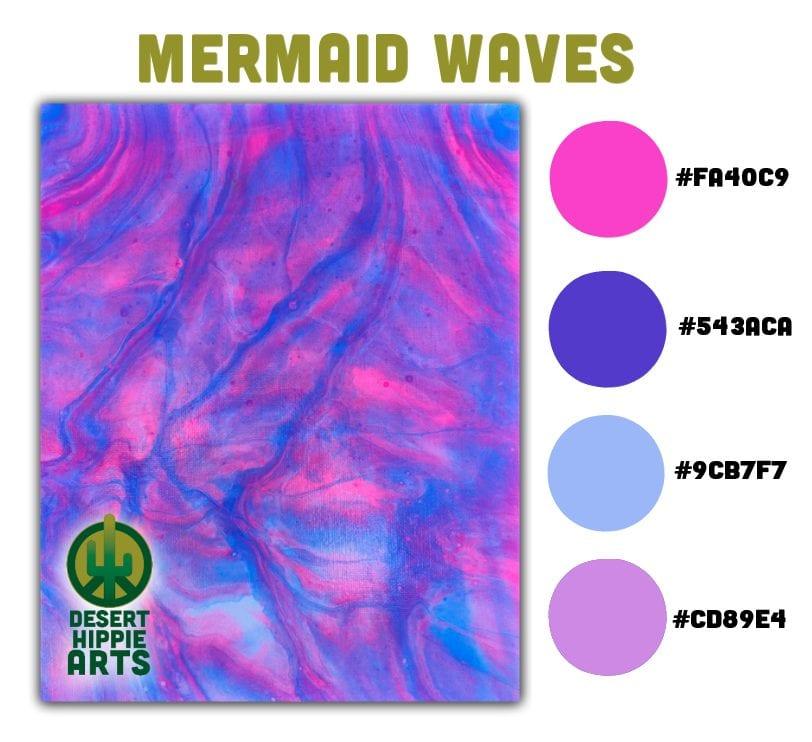 My Favorite 5 Color Combinations Mermaid Waves